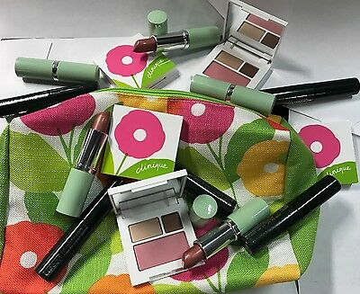 Clinique Lot of 15 Think Bronze Lipstick, High Impact Mascara,& Shadow/Blush Duo