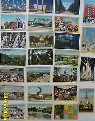 Linen Postcards,25,c 1930-50s,USA-Various States,Topicals,Used/Unused, All GC+