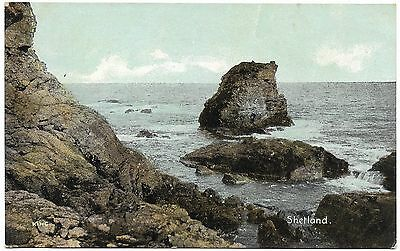 Shetland - early colour postcard - Shurey's Publications (King) - c1907 unused