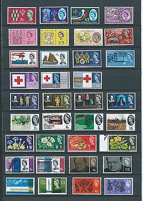1962/67 Gb Qeii Phos Commems All 30 Consecutive Sets Mnh:  Npy To Flowers