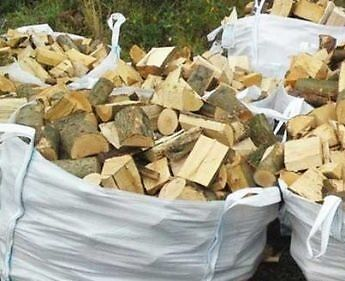 Seasoned HardWood Wood Logs Firewood free delivery available 1ton builders bag