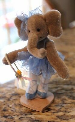 Miniature Deb Canham For Little Gem Mellie Ballerina Elephant Blue Tutu In Case