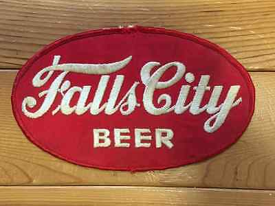 Vintage 1960's Falls City Brewing Company Jacket Employee Uniform Patch Crest