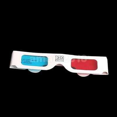 100Pairs Red-Cyan (Blue) 3D Glasses for 3D Anaglyph Movie Game DVD