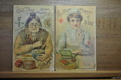 Vict Booklet Covers, Home Nurse, Red Cross, Seabury's Medicated Soaps, Plasters
