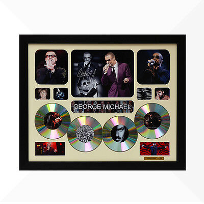 George Michael Signed & Framed Memorabilia - 4CD - Ivory - Limited Edition