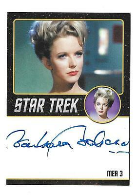 Star Trek TOS 50th Anniversary Autograph Barbara Babcock as Mea 3 Very Limited