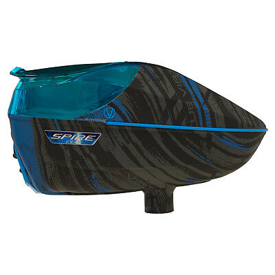 Virtue Spire 260 Electronic Paintball Loader - Graphic Cyan
