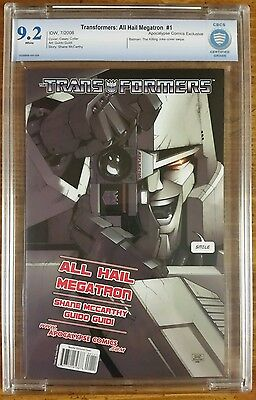 Transformers All Hail Megatron #1 Apocalypse Comics Exclusive variant! CBCS 9.2