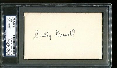 Paddy Driscoll Signed Index Card 3x5 Autographed Bears PSA/DNA 83942824