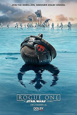 Rouge One Cinematic Poster Print Glossy Hologramed Carrie Fisher Star Wars UK A4