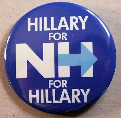 Hillary For New Hampshire Campaign Pin