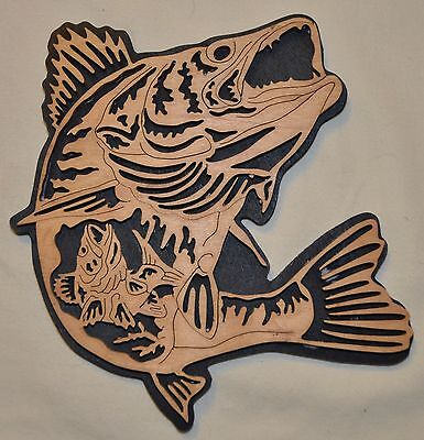 Nature's Majesty Walleye Scroll Saw Wall Plaque