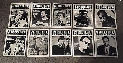 BILLY JOEL - RARE - Streetlife Serenade fanzine magazine - LOT OF 10 ISSUES