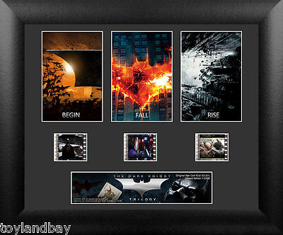 Film Cell Genuine 35mm Framed Matted Batman The Dark Knight Trilogy S1 USFC6152
