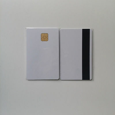 10 PCS Blank Sle4442 Chip Card With 2 Track 8.4MM HI-CO Magnetic Stripe