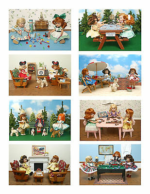 Vintage Ginny Doll 'Fun & Games' Greeting Cards