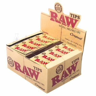 1 Box Raw Rolling Paper Tips Natural Unrifined (box of 50 pieces total 2500 )