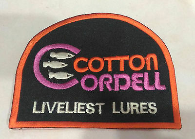 New Old Stock Liveliest Lures Cotton Cordell Fishing Patch