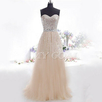 Sexy Women Wedding Bridesmaid Ball Gown Party Cocktail Evening Prom Long Dress
