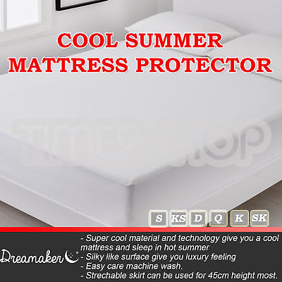Soft Cool Summer Mattress Protector Cover Fully Fitted Topper Underlay All Sizes