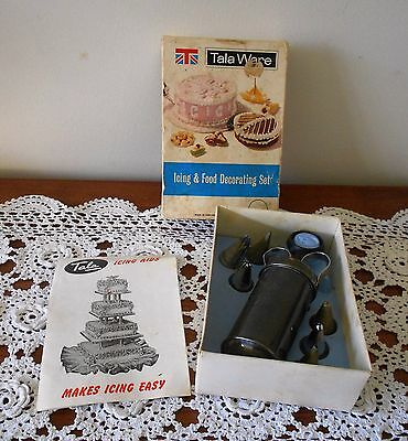 VINTAGE TALA WARE 1960s ICING & FOOD DECORATING SET #9705 MADE IN ENGLAND