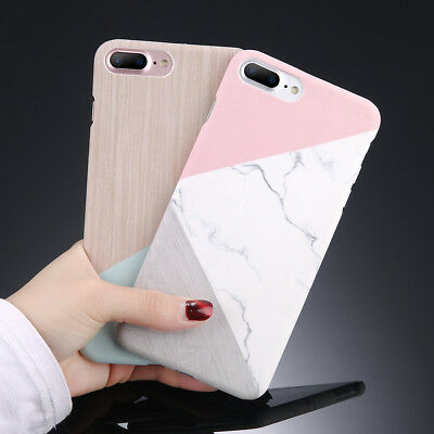 Marble Granite Stone Pattern Hard Back Case Cover For iPhone XR XS Max 6s 7 Plus