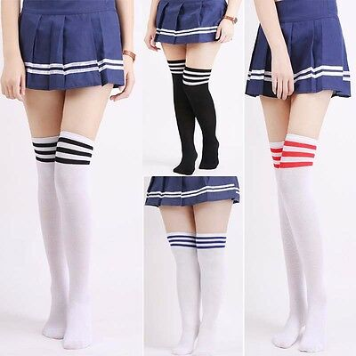 Womens Girls Long Socks Over Knee Thigh High Stockings Hosiery Tights Pantyhose