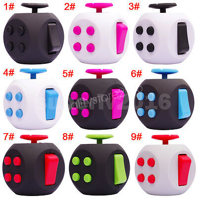 11 Color Fidget Cube Anti-anxiety  Adults Stress Relief Kids Toy Gifts and Case