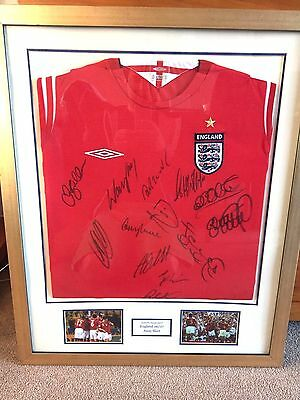 Signed And Framed England 2006 Football Shirt