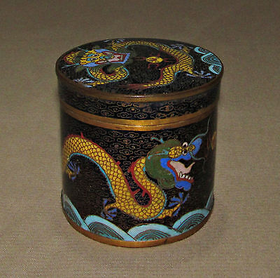 A Chinese cloisonné storage jar, dragons and flaming pearl, circa 1900.