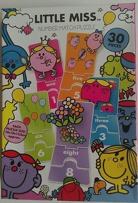 Little Miss Number Match Puzzle Cards 30 Pieces - Children Jigsaw Educational