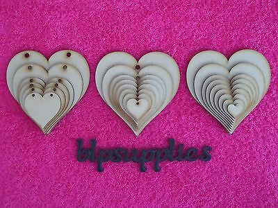Wooden MDF Hearts shape   3mm MDF Craft Shape  Tags   Embellishments  Decoration