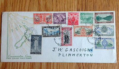 New Zealand Peace Stamps Commemorative Cover - 1946