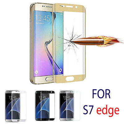 Full Curved 3D Tempered GLASS Screen Protector FOR Samsung Galaxy S7 EDGE + CASE