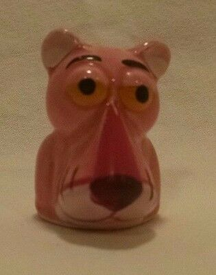 Pink Panther Thimble United Artists Figurine Statue Porcelain