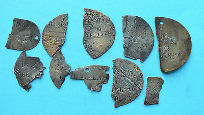 WW1 German Imperial parts of  soldier tags