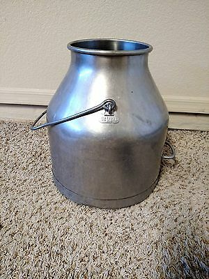 Vintage Stainless Steel DE LAVAL Milking Bucket Can Pail