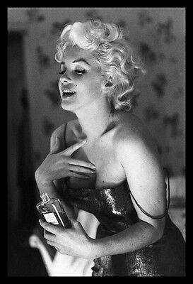 FRAMED Marilyn Monroe Poster Chanel Sexy Glow 36x24 Photograph Art Print Poster