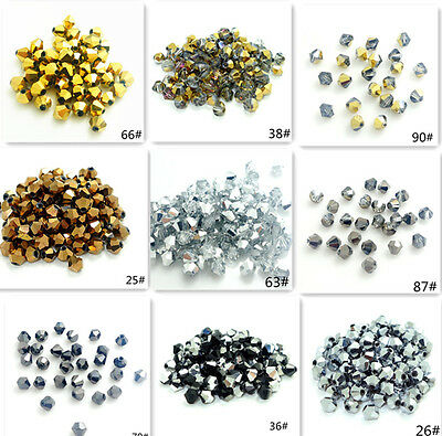80 color 200pcs bicone crystal glass 5301# 3mm loose spacer Jade Beads