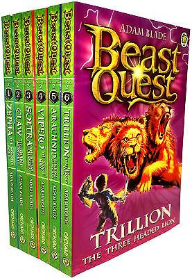 Beast Quest Collection Adam Blade 6 Books Set Series 2 Pack 7 to 12 New PB