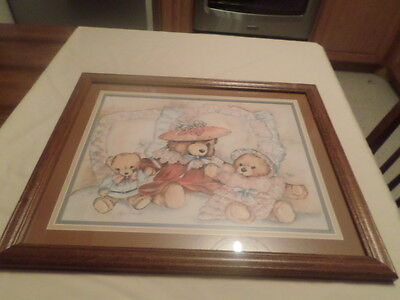 retired home interior picture teddy bears 18x22
