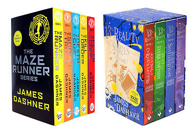Maze Runner and 13th Reality 9 Books Colletcion By James Dashner- Death Cure, Ma
