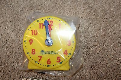 """Learning Resources 4"""" GEAR CLOCK Teaching Telling Time NEW"""