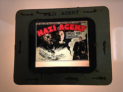 1942 Conrad Veidt Nazi Agent Glass Movie Coming Attraction Slide