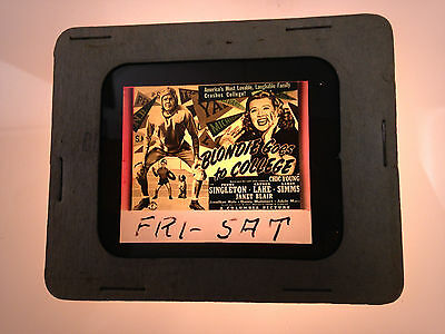 1942  Blondie Goes To College Glass Movie Coming Attraction Slide