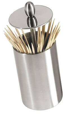 Oggi Retractable Toothpick Holder with Rubber Base, Stainless Steel  7021
