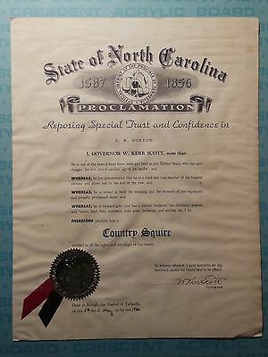 W. Kerr Scott, Governor of North Carolina, 1952 proclamation, Country Squire
