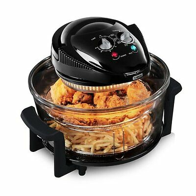 Tower T14001 Airwave 17L Low Fat Air Fryer Oil Free Healthy Halogen Cooker--S/R