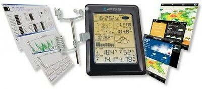 Weather Station Wireless WS1093 With Touch Screen and Internet Upload + Free